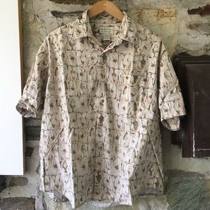 Crossings Fish Print Party Shirt men's large